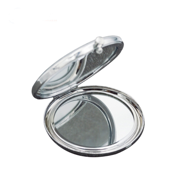 Eco-friendly double-sided polished diy logo design blank compact pocket hand mirror
