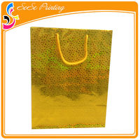 Refinement folded shopping paper bag