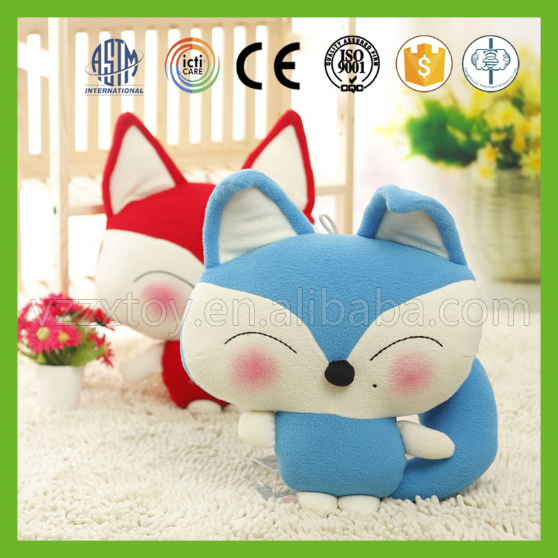 Cheap fashionable small asia plush fat fox toy for kids