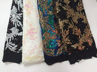 2015 wholesale price for fashion african net/tulle/french lace with sequins L87