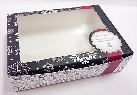 Black Color Offset Cupcake Box