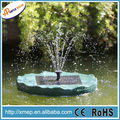 Green Plastic Lotus Leaf Floating Solar Pool Fountain In Led Light