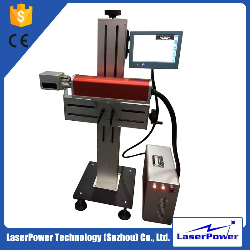 cheap price electronic components fly laser marking machine for cosmetics