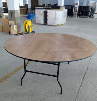 Round Plywood Folding Events Dining Table