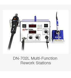 Hot sale DN-702L 2 in 1 BGA Soldering Rework Station with Hot Air Heat Gun for mibile phone repairing