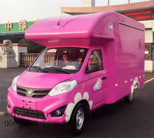 Electrical / gasoline Food Truck Fast Food Van/Mobile food truck for Fried chicken,beer,snack mobile sale