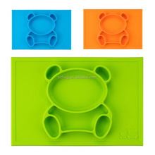 FDA&LFGB Approvals one piece silicone placemat for kids
