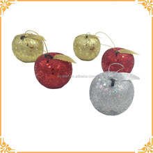 Gold, Silver and Red Colorful Christmas Foam Artificial Apples