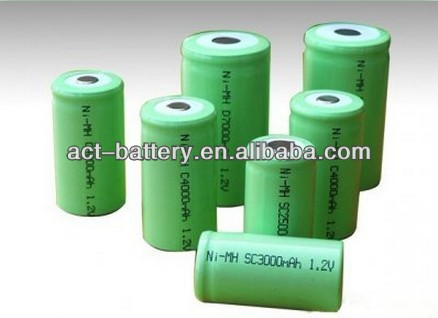 ni-mh type 1.2v 3000mah sub c nimh battery