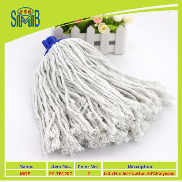 chinese recycled baumwolle yarn factory shingmore bridge hot selling cheap polyester cotton mop yarns