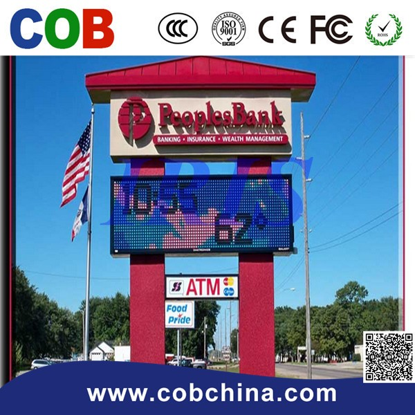 power saving p10 single color led fuel price sign display/billboard led signs