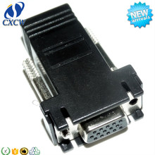VGA to RJ45 adapter CAT5 CAT6 VGA female db15 cable connector