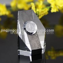 fashion customized K9 crystal desk table clock