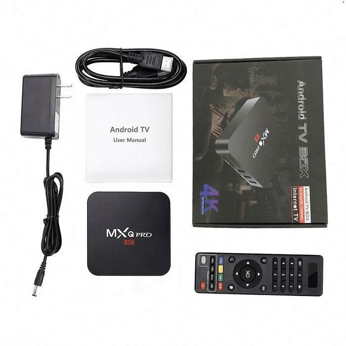 Best quality guarantee Amlogic S905W 64 bits MXQ PRO 4K set top box <strong>software</strong> update android tv box