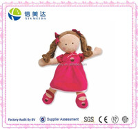 Lifelike Lovely Rose Red Cake Dress Doll Baby Toy