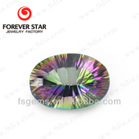 Wholesale Oval Natural Rainbow Mystic Quartz