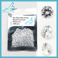 Top Selling wax casting gemstone 2.25mm cubic zirconia stones round white loose stone