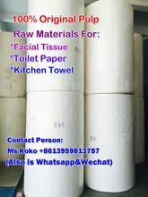 Hot Sale Raw Material of toilet Tissue Paper Kitchen towel Facial Tissue Paper Manufacturer in China