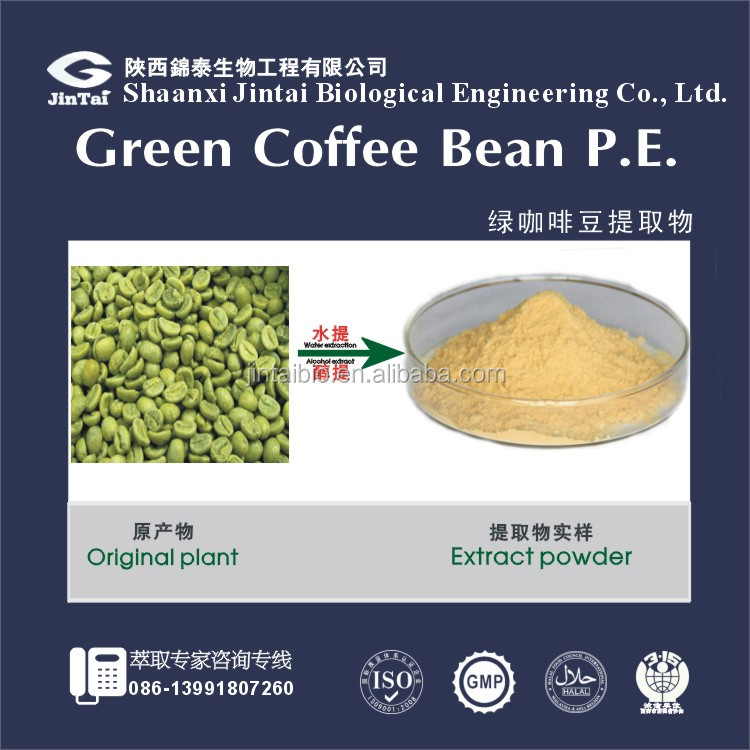 natural antihypertensive factory green coffee bean extract