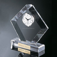 Executive desk clock crystal decorative desk clock