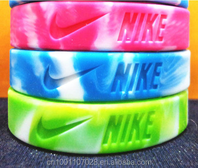 nike logo silicone wristbands bracelet for promotive gift Branded product promotion Marketing small present to customers