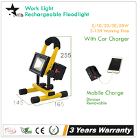 Wholes [STARLED] battery powered Portable outdoor and car charger working time 4h 10w rechargeable led flood light