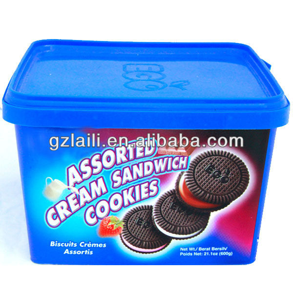 lailihong OEM service Assorted Cream Sandwich Cookies