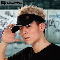 cosplay fashion fake hair sports visor cap and hat
