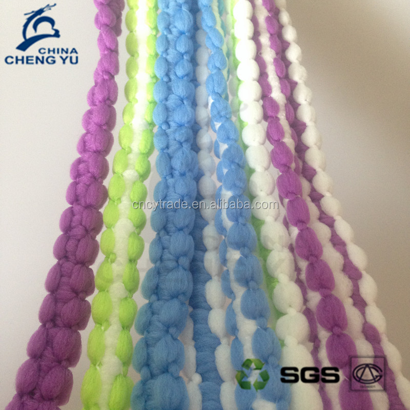 from cangnan textile factory colorful 100% polyester microfiber mop yarn