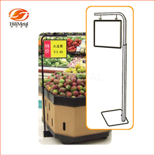 Paper display sign holder pop pallet floor stand for supermarket poster frame