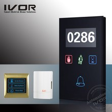 DND + cleaning home switch, hotel use dnd with doorbell led doorbell button doorbell system