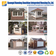 Portable small prefab cabin for small shop / sentry box / kiosk / booth / mobile stainless steel guard house