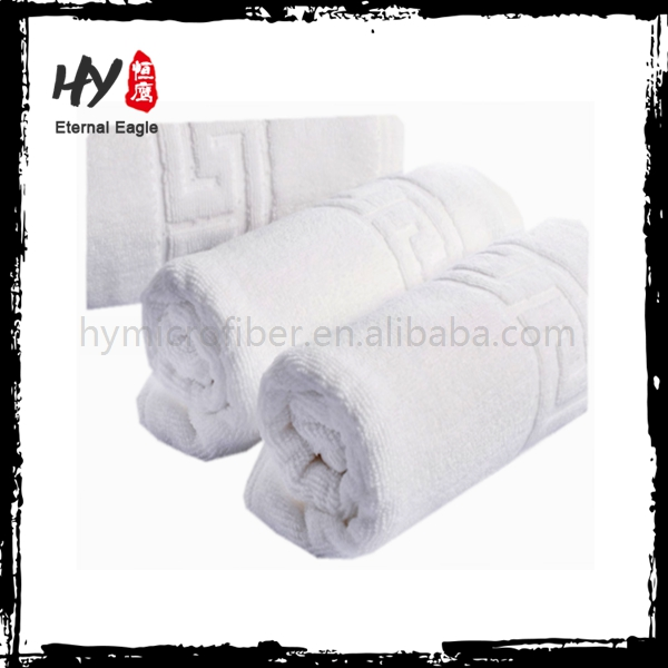 Excellent Material white jacquard hotel towel, microfiber beach towel, dobby style 100% cotton bath towel
