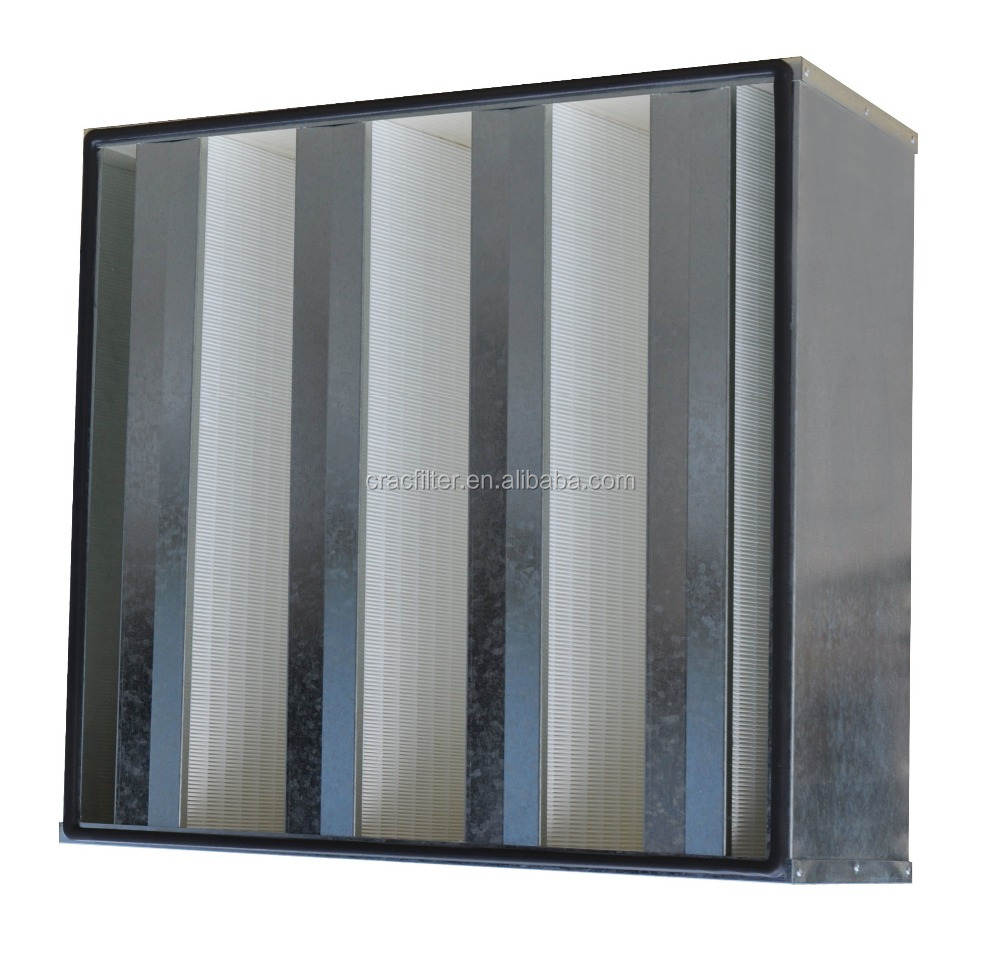 Good quality Metal frame H14 H13 V-type HEPA Air Filter