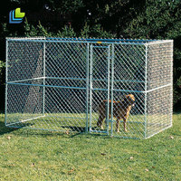 6' tall Heavy-duty 1-3/'' tubular frame and heavy-duty 11-1/2-gauge chain link wire Dog Kennels