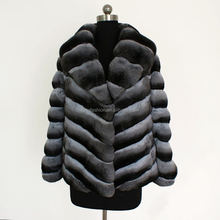 Hot Selling High Quality Luxurious Real Fur Chinchilla Coat for Fashion Women