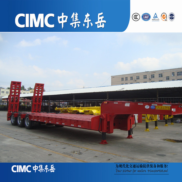 CIMC Manufacturer Low Bed Trailer Dimensions For Customer Reference