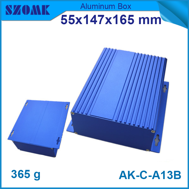 aluminum diecasting electronic product extruded aluminum electronic enclosures 55x147x165mm