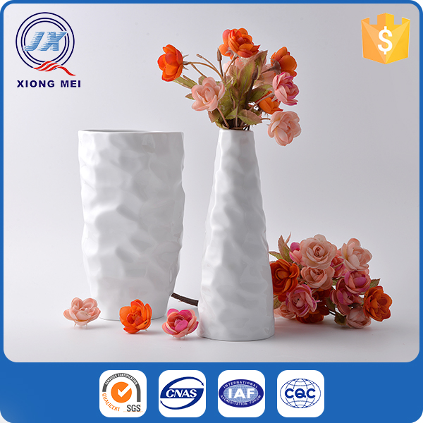 High quality white glazed indoor decorative cheap ceramic pot