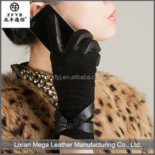 2016 High quality wholesale Fashion Dress Pigskin Leather Gloves