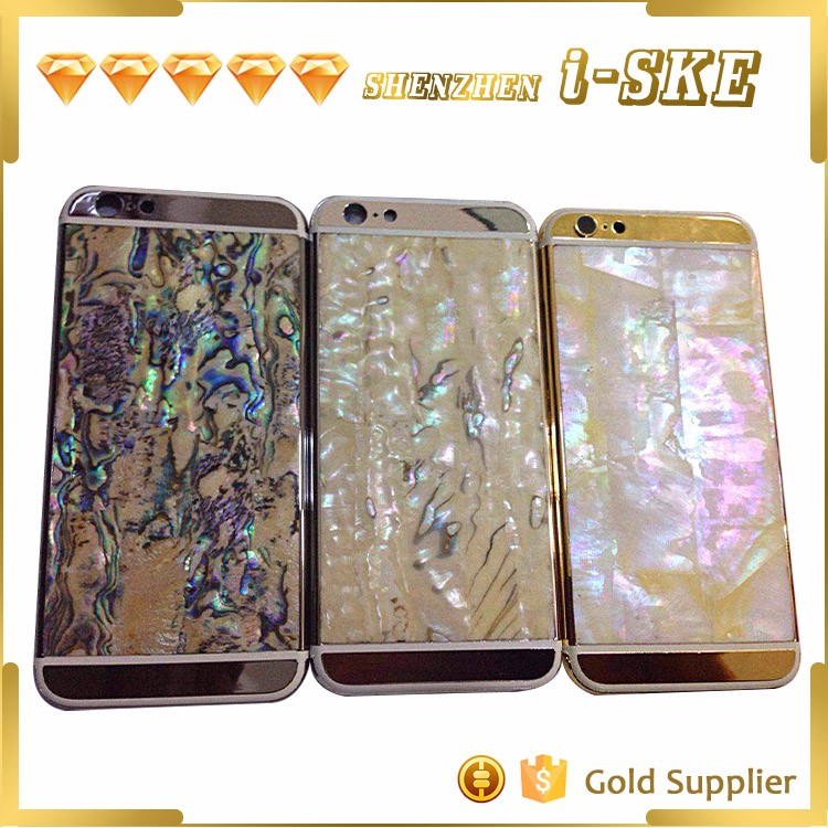 For iPhone 6s back housing replacement mother of pearl shell plate
