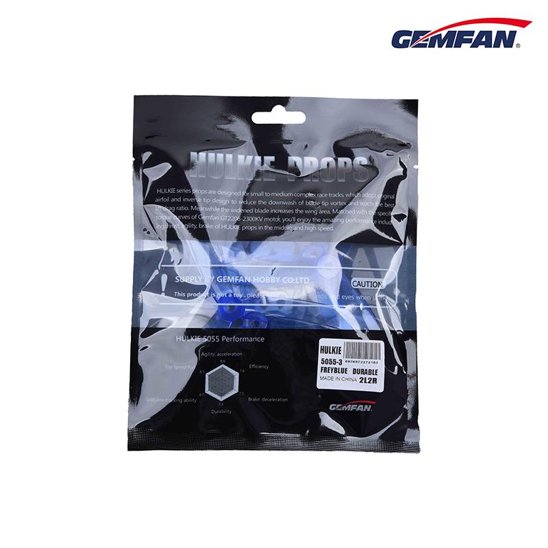 2Pairs Gemfan HULKIE 5055S For GT2206-2300KV Motors 3 Blade PC Propeller CW CCW
