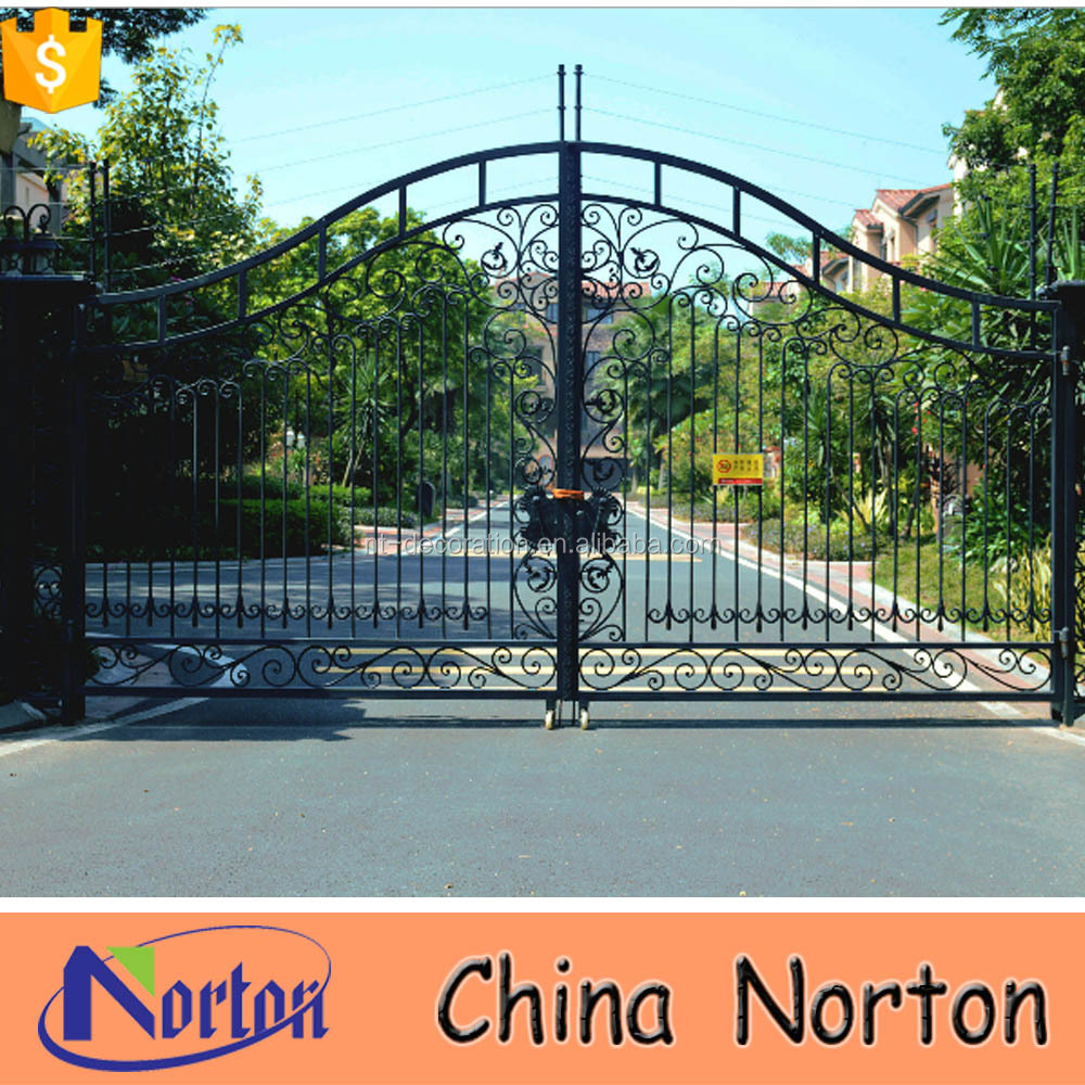 simple metal used wrought iron door gates NTIRG-080S