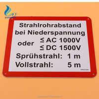 Factory Direct Cheap Road Safety Aluminum Warning Custom Metal Sign Board