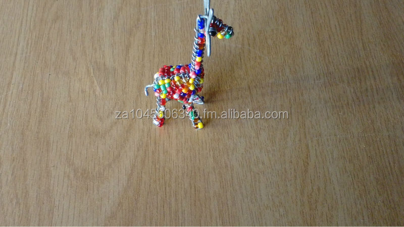 3D Giraffe Wire beaded Key Chain
