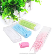 Portable Toothpicks Plastic 50 pcs Plus Brush In Clear Case Korean Eco-friendly toothpicks