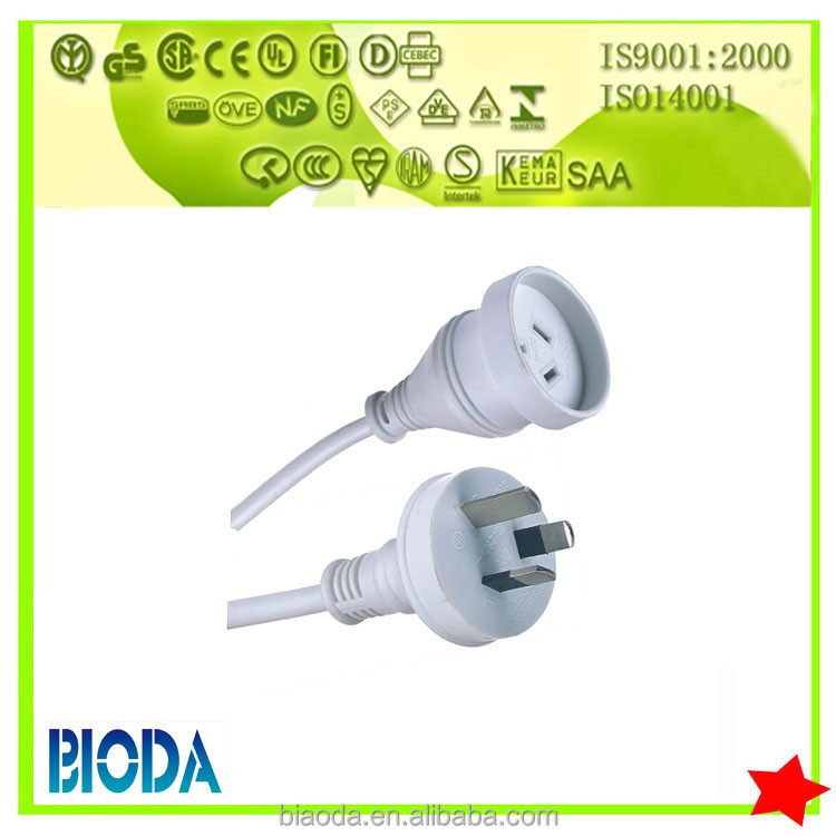 SAA approved Au extension power cord and socket