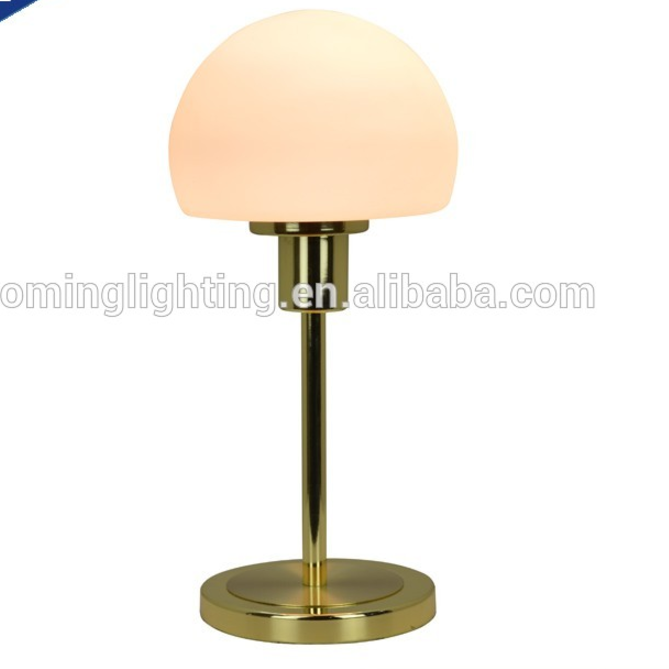 Glass Shade 4.5w Led table light for hotel