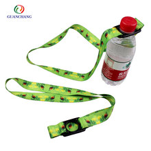 Customized water bottle holder neck strap with adjustable buckle for sale