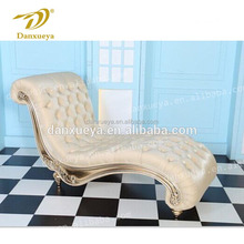 danxueya white genuine leather Indoor wedding chaise lounge F12